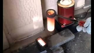 MELTING COPPER (MINI MELTING ELECTRIC FURNACE) Making Ingot From Scrap Copper
