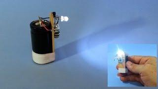 Super Fast Charging Flashlight with Supercapacitor