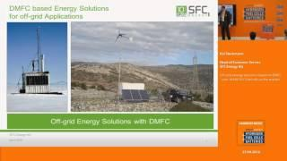 Off-grid energy solutions based on DMFC - over 34.000 SFC fuel cells in the market