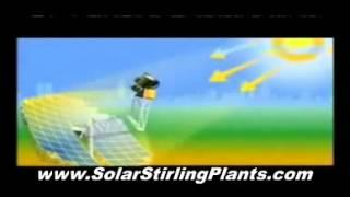 Solar Stirling Power Generator - Power From Sun Energy 100% Converted In Free Home Energy