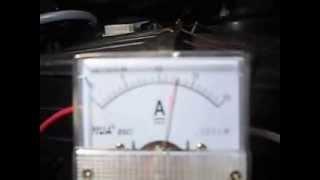 Produccion de HHO vs Amperaje Hidrogeno Vehicular Costa Rica