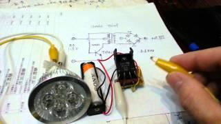 1.2V AA joule thief 12v LED
