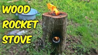 How To Make A Wood Rocket Stove