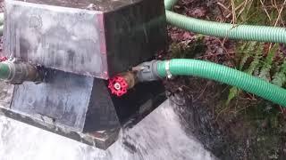 Renewable energy DIY micro hydro electric turgo turbine