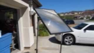 Fresnel Lens Solar Cooker from a FREE TV on Craigslist - Total cost $3