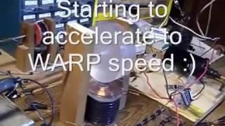 Plasma Impulse Motor demo by Aaron Murakami