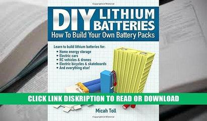PDF FREE Download Full DIY Lithium Batteries: How to Build Your Own Battery Packs By Micah Toll