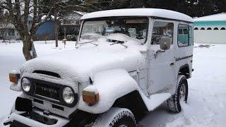 Toyota FJ40 Hybrid with an 11 plate dry cell producing 1.50- 2 liters of hho a minute with no pump.
