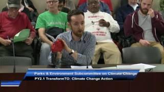 Rob Shirkey at City of Toronto's Climate Change Subcommittee