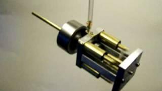 Wobble plate axial engine runs
