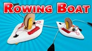 How to make a Toy Rowing Boat (Electric boat)