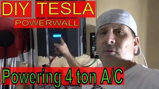 DIY Tesla Power Wall Powers 2 A/C Units