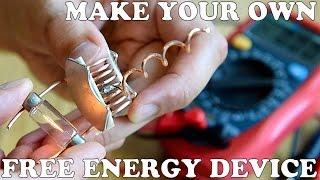 how to make a free energy device, cheap and easy