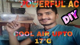 How To Make Powerful AC At Home |घर बनाया SOLAR AC | DIY