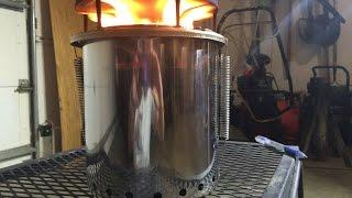 2/3 $25 Diy How To Stainless Steel Pellet Gasifier Stove Cheap Easy Portable PELLET TEST BURN