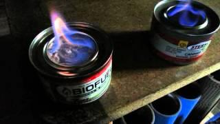 BIOFUEL / STERNO Burn Test