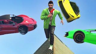DODGE THE FLYING CARS! (GTA 5 Funny Moments)