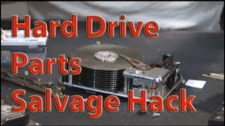 Hard drive hack Tesla Turbine Parts RECYCLING DRILLS HARD DRIVES FOR GENERATORS AND PLATTERS p2