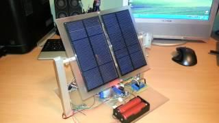"Arduino based ""sunflower"" robot - dual axis solar tracker"