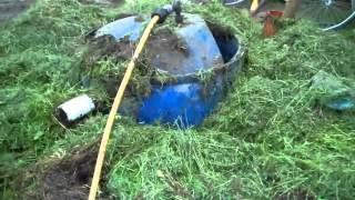 Bio gas made from grass digester d.i.y.Ireland Jean Pain