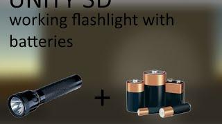 [Unity3D] Advanced flashlight with batteries (Script in description) [HD]