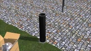 Installing Solar Light Bollards with Concrete Forms and Anchor Castings