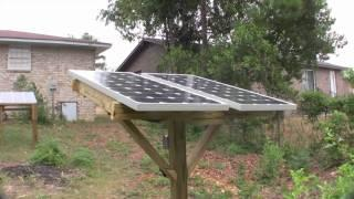 DIY Pole mounted Solar Panels