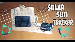Diy Solar Sun Tracker At Home Using Arduno.