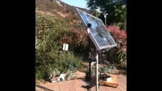 D.A.S.T. (Dual Axis Solar Tracker) testing