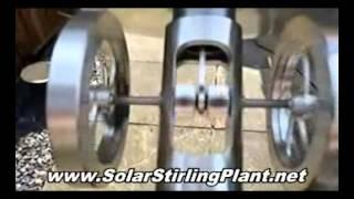 Solar Stirling Electric Generator - Free Green Energy For Home Use