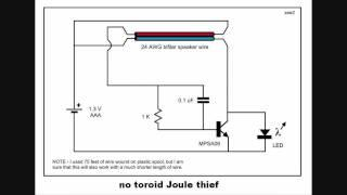 no toroid Joule thief