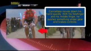 Bike with engine (doped bike) and Cancellara (Roubaix - Vlaanderen)