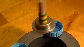 Homemade Levitating Top Levitron - levitron casero Tutorial