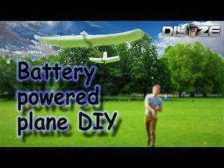 how to make Battery powered airplane DIY [FAIL] :D