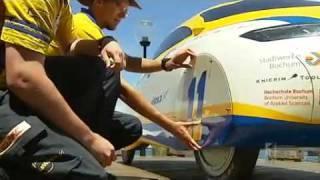 Solar-powered car arrives in Sydney
