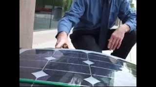 100-watt Flexible Solar Panel on Vancouver Solar Electric e-Bike Trailer Needs Redesign