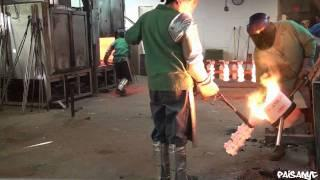 Casting steel in a foundry