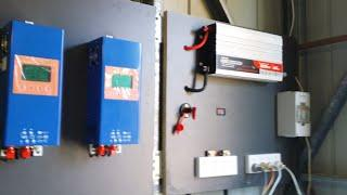 Tour of diy solar panel and battery bank system and explanation of components