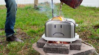 Molten Aluminum Vs. Live Toaster
