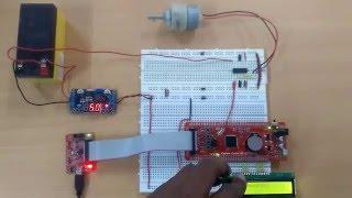 DC motor control using PWM of LPC1768