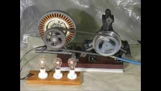 Homemade radial three cylinder air engine