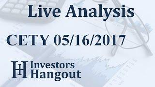 CETY Stock Live Analysis 05-16-2017