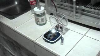 1W high power LED powered by water + kitchen cleaning solution