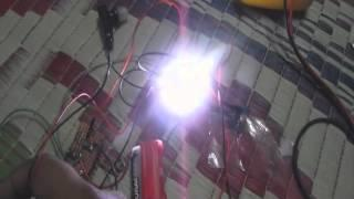 Joule Thief running 10 Watt SMD LED with 3V Battery