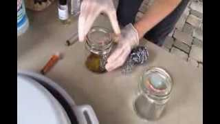 Making a ferrofluid solution