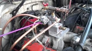GEET Chevy V-8 with weed eater carby
