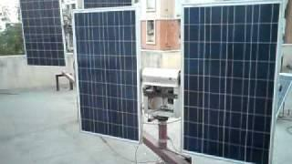 DOUBLE AXIS SOLAR PANEL TRACKER - 250W X 2 = 500W FROM CINE PROJECTORS