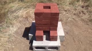 Building a Brick Rocket Stove - Rocket Forge Experiment