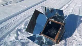 Winter Solar Oven cooking