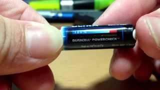 DURACELL ULTRA AAA batteries (Power Check Technology)